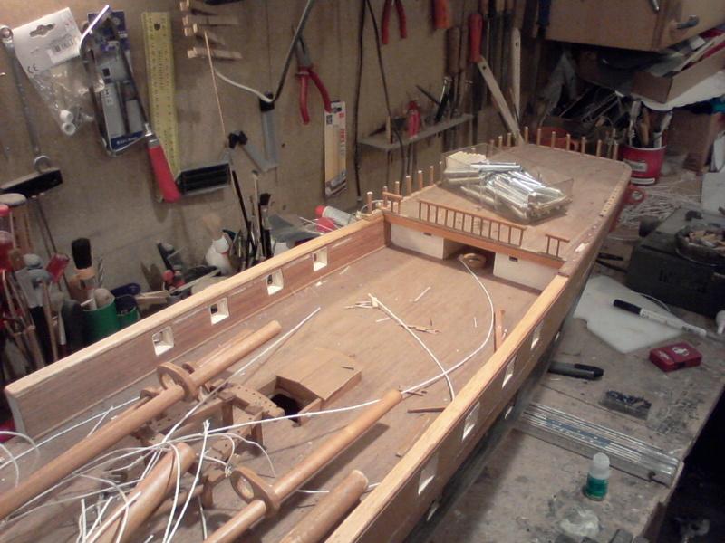 Restaurierung Dänische Fregatte Jylland 1:24 Foto-012