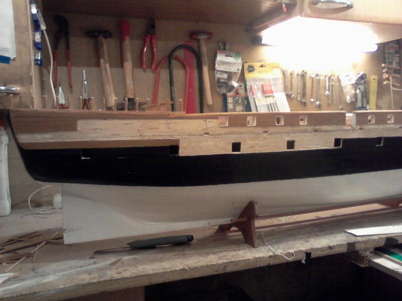 Restaurierung Dänische Fregatte Jylland 1:24 Foto-013