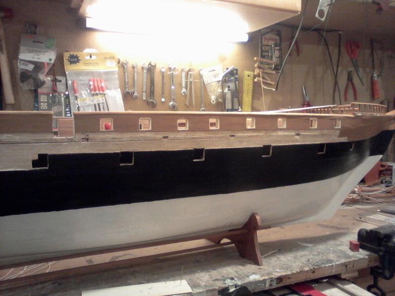 Restaurierung Dänische Fregatte Jylland 1:24 Foto-014