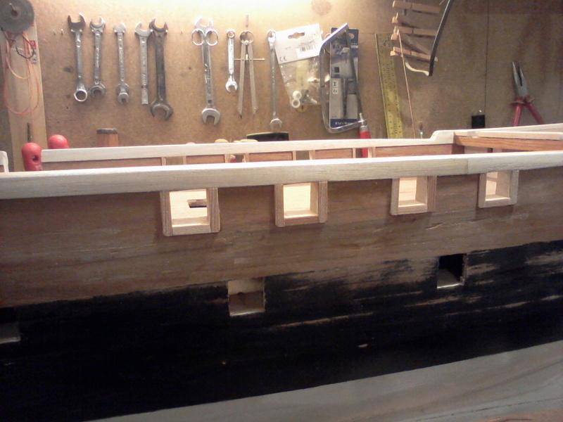 Restaurierung Dänische Fregatte Jylland 1:24 Foto-021