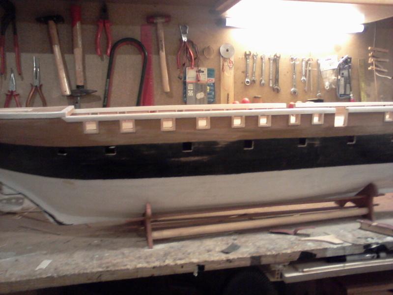 Restaurierung Dänische Fregatte Jylland 1:24 Foto-022