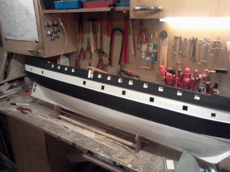 Restaurierung Dänische Fregatte Jylland 1:24 Foto-027