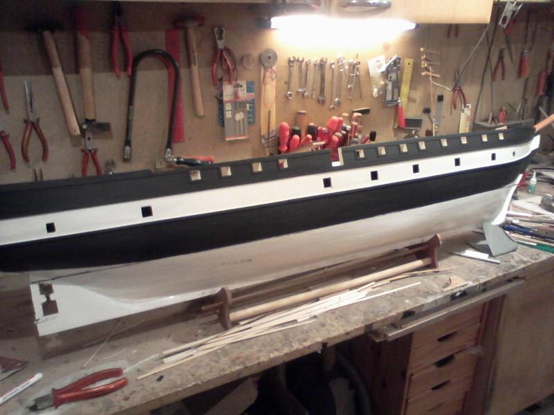 Restaurierung Dänische Fregatte Jylland 1:24 Foto-028