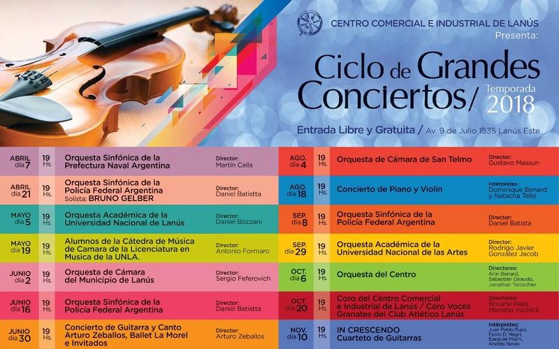 2018 - LANUS: CICLO DE  GRANDES CONCIERTOS 2018. 00132