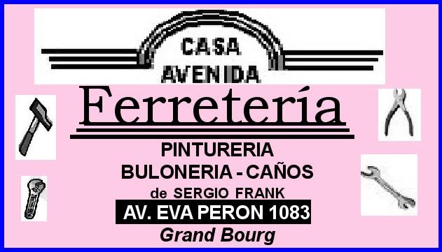 "En Grand Bourg. Ferretería ""AVENIDA"". Ferret13"
