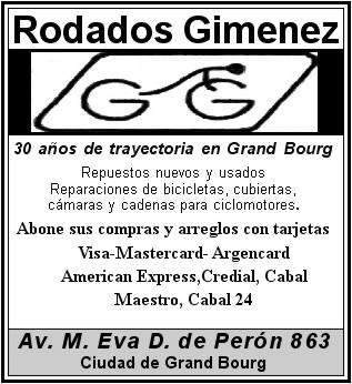bourg - En Grand Bourg... Rodados Giménez. Rodado10