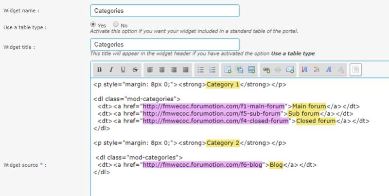 Widgets for categories and posts Widget12