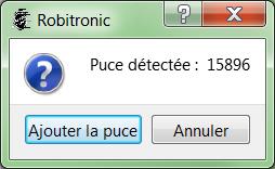 Attribution d'un numéro de puce Robitronic® 1211