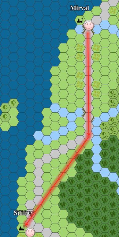 Cartes du continent d'Eorpa Mm-110