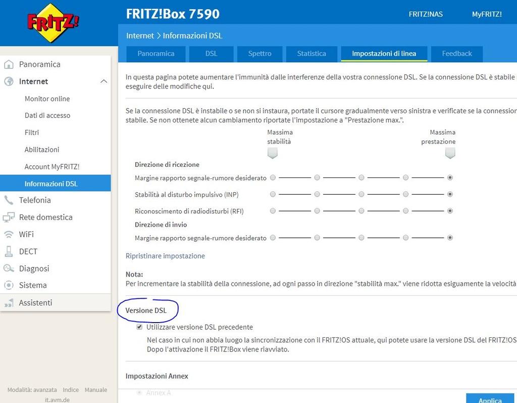 [Risolto]parametri configurazione Voip Tim Smart Fibra su Fritz!box 7560 Versio11