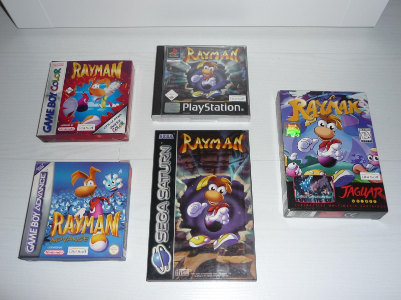 Differente version de Rayman 1 sur PS1  P1040210