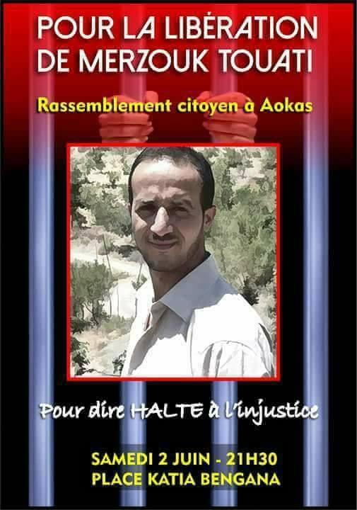 Rassemblement citoyen à aokas samedi 02 juin 2018 pour la libération de Merzouk Touati 10383
