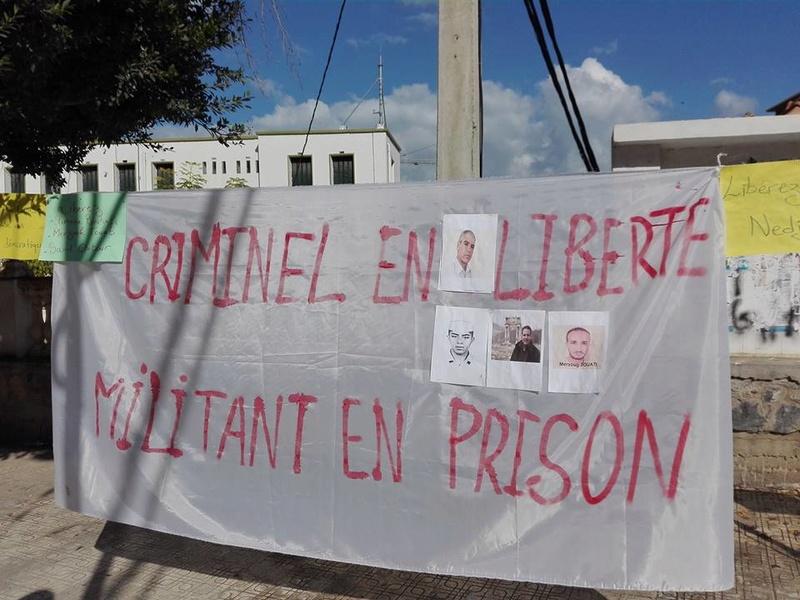 Rassemblement à Aokas le samedi 18 novembre 2017 pour la libération de:  Slimane Bouhafs Merzouk Touati Said Chitour 1307