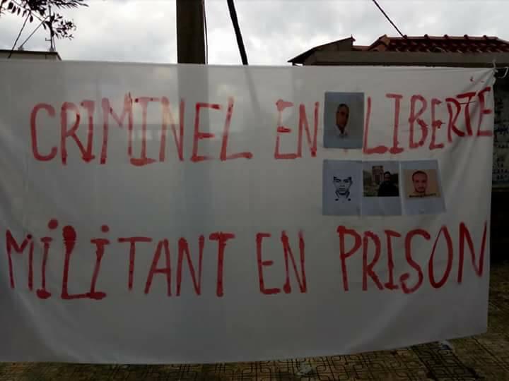 Rassemblement à Aokas le samedi 18 novembre 2017 pour la libération de:  Slimane Bouhafs Merzouk Touati Said Chitour 1309