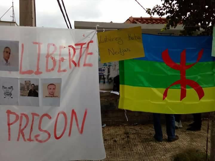 Rassemblement à Aokas le samedi 18 novembre 2017 pour la libération de:  Slimane Bouhafs Merzouk Touati Said Chitour 1310