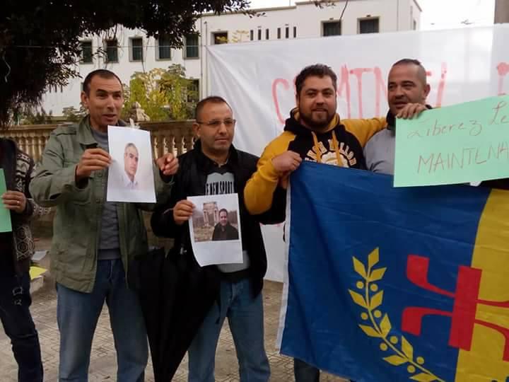 Rassemblement à Aokas le samedi 18 novembre 2017 pour la libération de:  Slimane Bouhafs Merzouk Touati Said Chitour 1313
