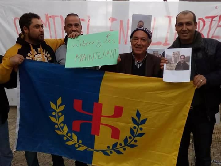 Rassemblement à Aokas le samedi 18 novembre 2017 pour la libération de:  Slimane Bouhafs Merzouk Touati Said Chitour 1314
