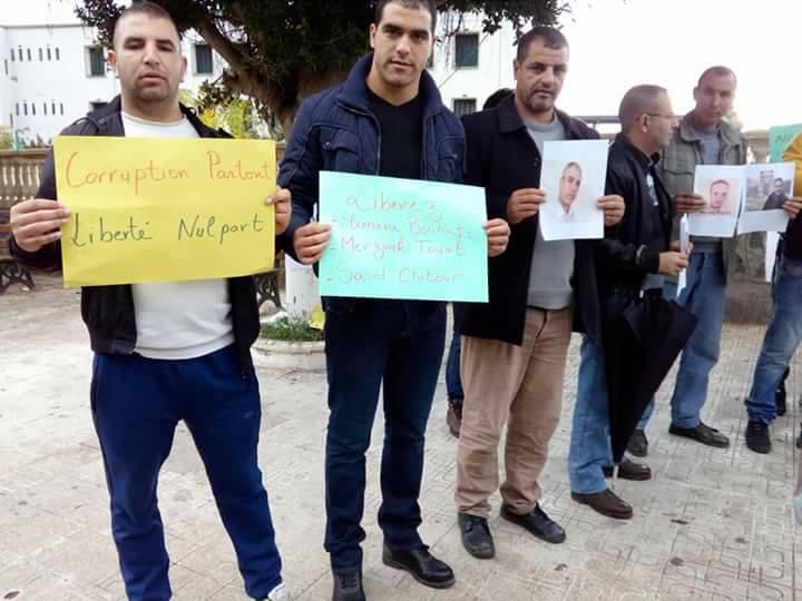 Rassemblement à Aokas le samedi 18 novembre 2017 pour la libération de:  Slimane Bouhafs Merzouk Touati Said Chitour 1320