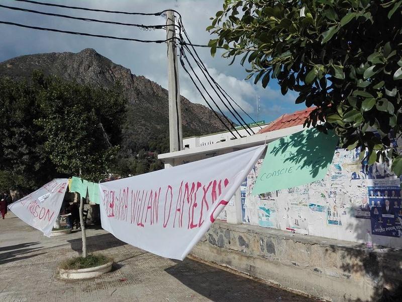 Rassemblement à Aokas le samedi 18 novembre 2017 pour la libération de:  Slimane Bouhafs Merzouk Touati Said Chitour 1329