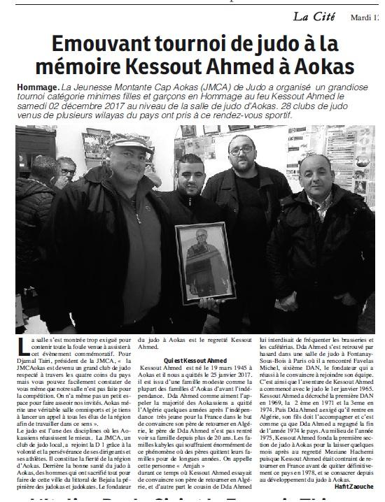 Tournoi à la mémoire de Kessout Ahmed samedi 02 decembre 2017 a Aokas  1595