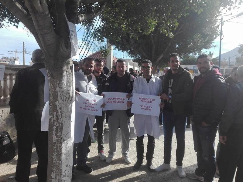Aokas est solidaire avec les médecins résidents le samedi 06 janvier 2018 1852