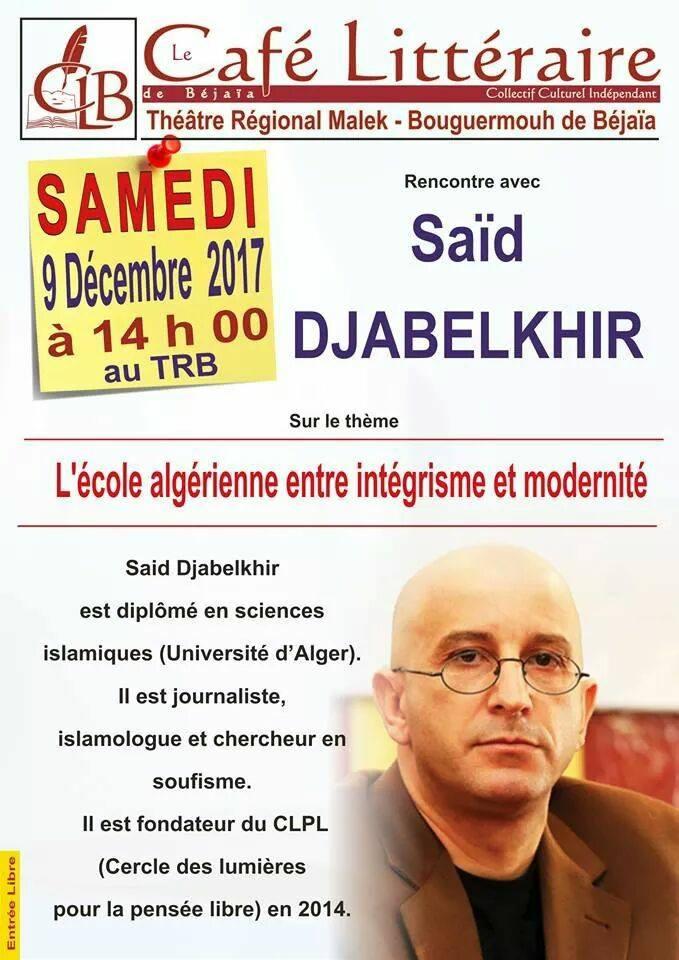 Saïd Djabelkhir intellectuel progressiste et laic 1892