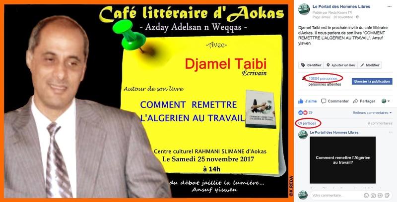 conférence de Djamel Taibi  à prévue Aokas le samedi 25 novembre 2017 est reportée  235