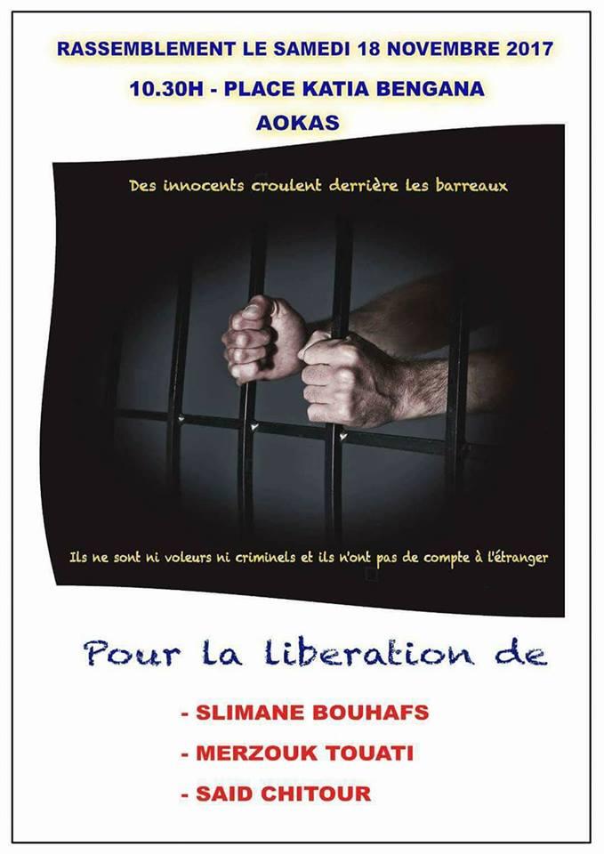Rassemblement à Aokas le samedi 18 novembre 2017 pour la libération de:  Slimane Bouhafs Merzouk Touati Said Chitour 322