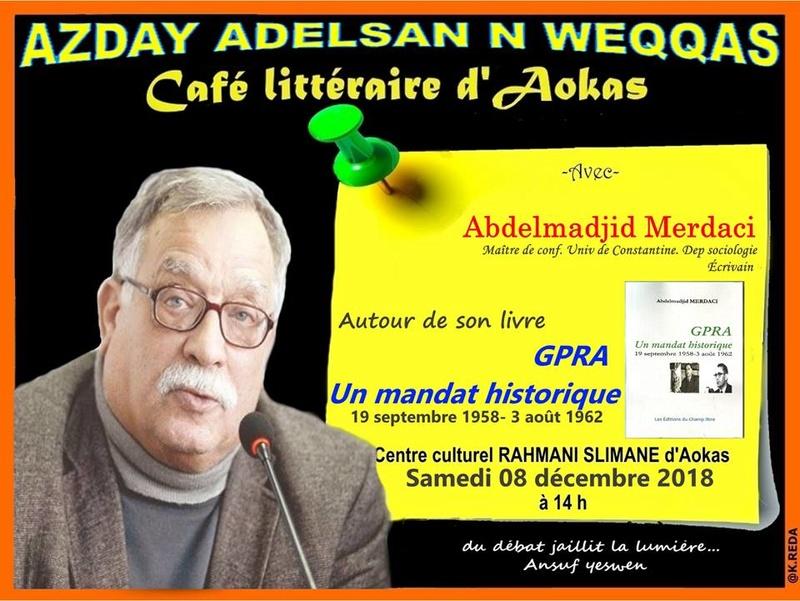 Abdelmadjid Merdaci à Aokas le samedi 08 decembre 2018 Abdelm10