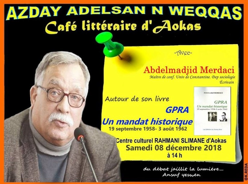 Abdelmadjid Merdaci à Aokas le samedi 08 decembre 2018 Captur10