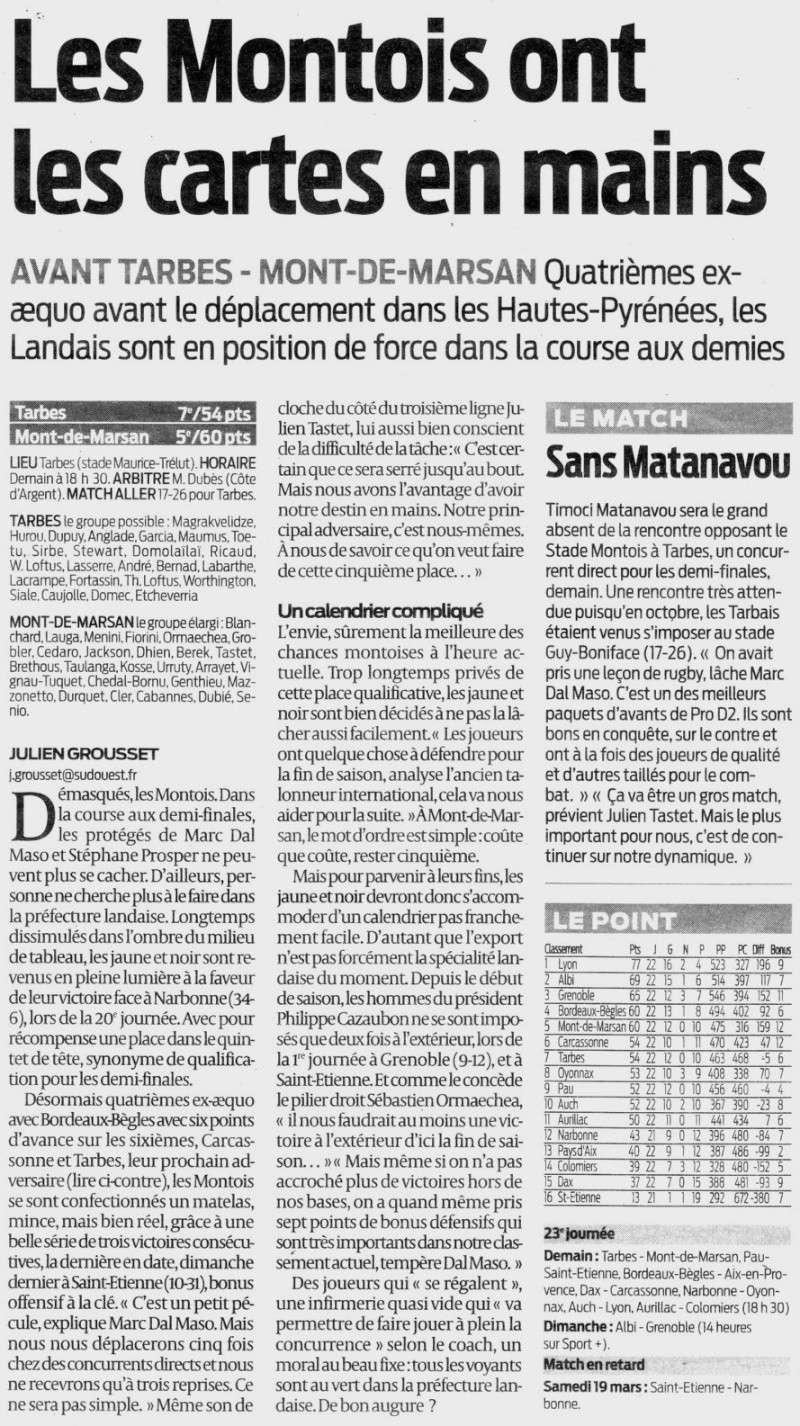 avant Tarbes - Mont-de-Marsan Qrm4k610