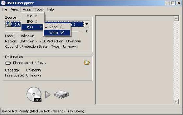 Graver avec DVD decrypter 210
