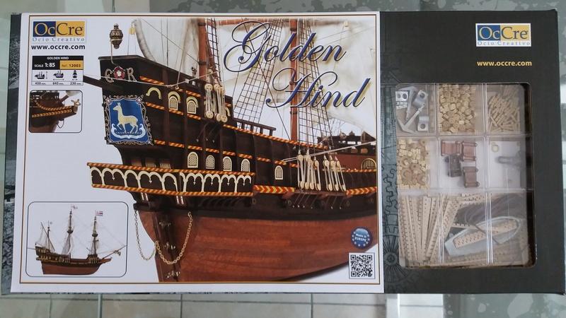 Le Golden Hind - 1/85 ème - OCcre Boite10