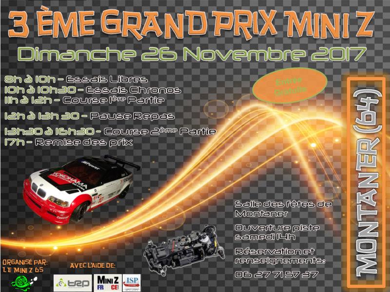 26 Novembre 3éme Grand Prix Mini-Z 65 Affich11