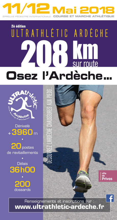 Ultrathlétic Ardèche 11 et 12 2018 mai Marcheurs, Osez ! Ultrar10