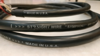 Straightwire Symphony speaker cable-2nd pair Img_2077