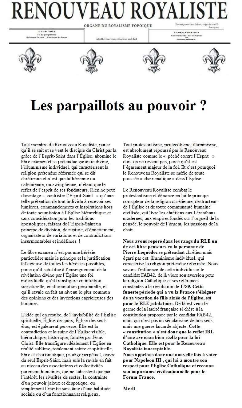 COMMUNIQUÉ DE PRESSE DU RLE SUR l'ÉLÉCTION PRÉSIDENTIELLE - Page 2 Les_pa10