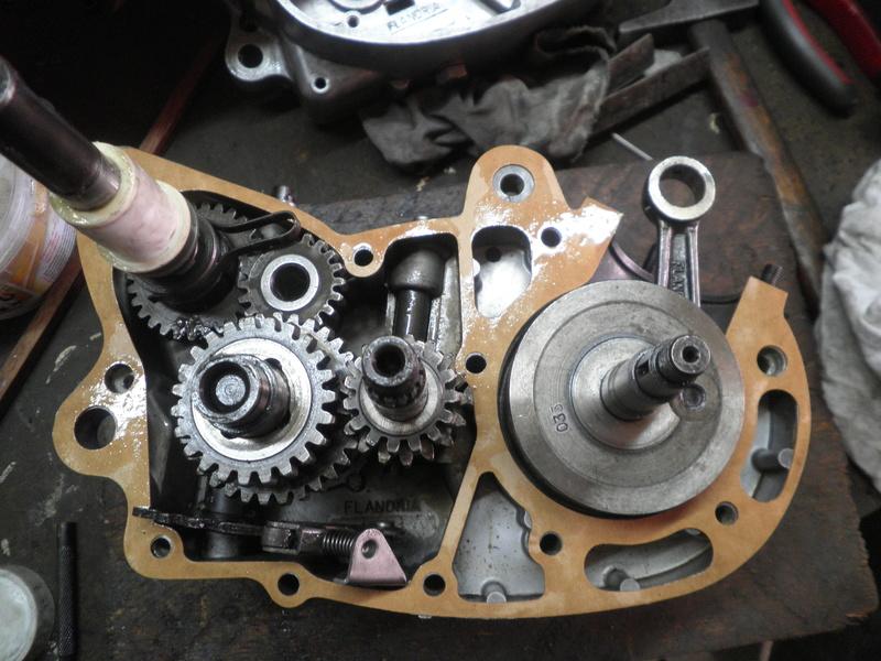 dépose complet moteur flandria 4,3cv à 4vitesse a main P3310010