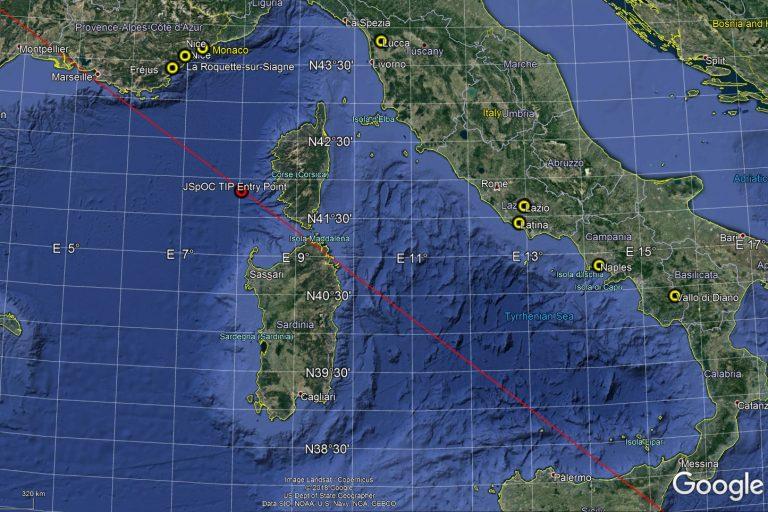25/03/2018 1h25 TU (3h25 Heure Française) Rentrée atmosphérique méditerranée 43239e10