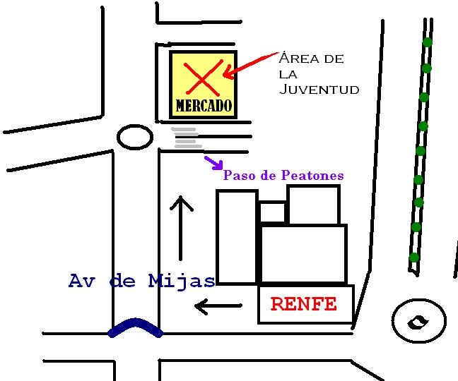 Llegar al Área de la Juventud de Fuengirola desde RENFE Como_l11