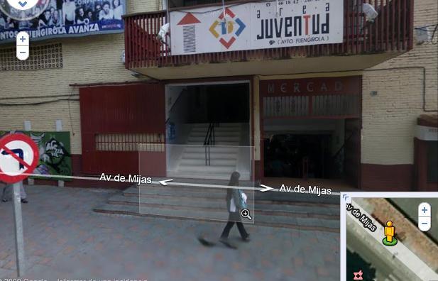 Llegar al Área de la Juventud de Fuengirola desde RENFE Entrad10