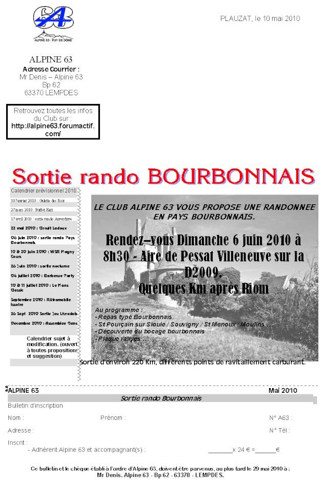 Sorties Rando du club (ext forfait sup : 3€ / pers.) Courri12