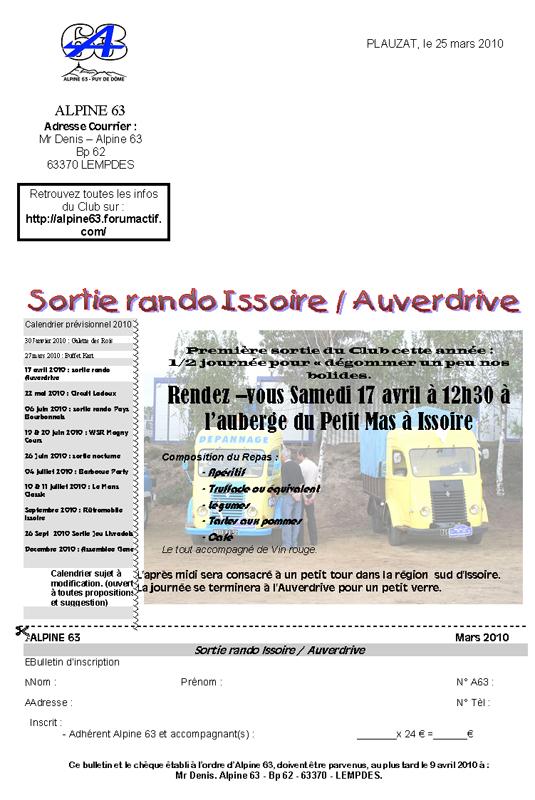 Sorties Rando du club (ext forfait sup : 3€ / pers.) Couuri10