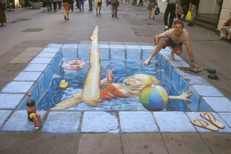 Straßenmalerei Swim2110