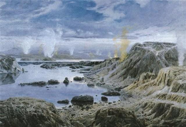 La Terre à l'époque de l' Eoarchéen, il y a 3,7 milliards d'années...  Paysag10