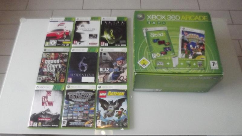 [EST] Lot propre 360 console en boite complet 1 ère main, jx , accessoires TBE  Dscf4227