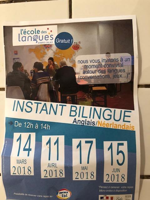 """L'école des langues de Calais nous invite à un instant bilingue autour d'un """"Potluck"""" Img_6811"""