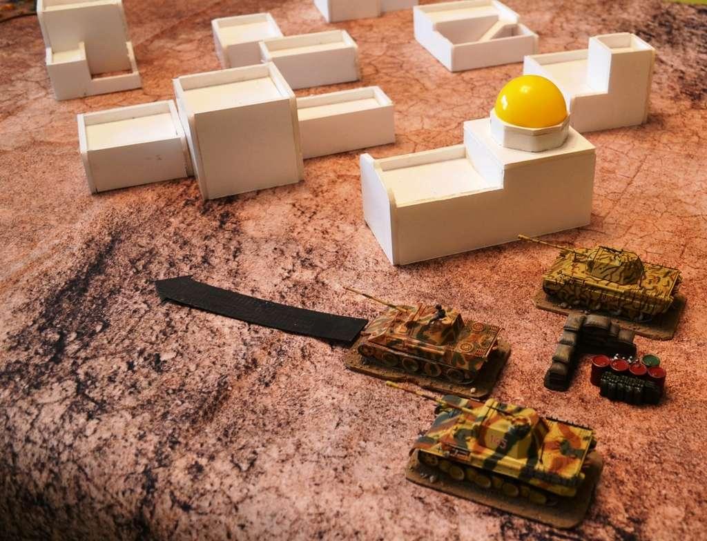 Tanks : sherman vs panther Tigres10