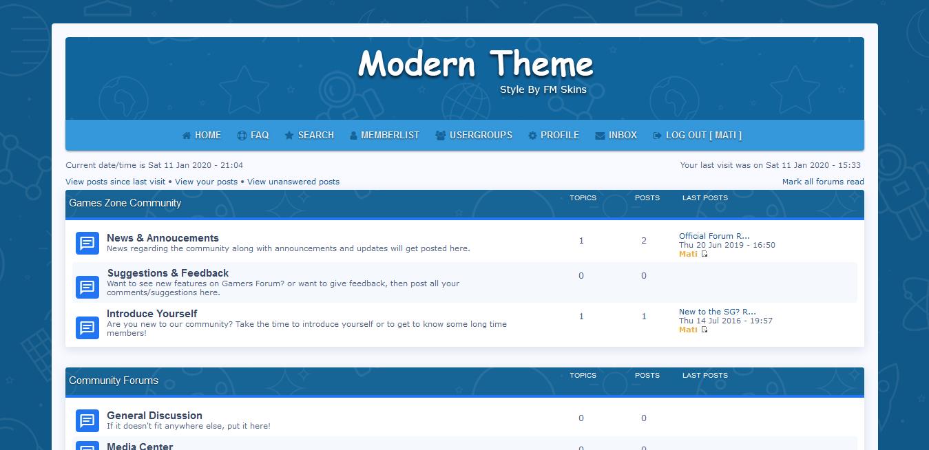 FM Skin - Professional Quality Forumotion Themes Mod10