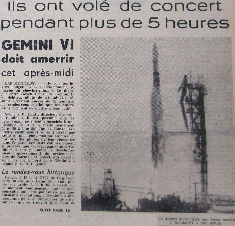4 décembre 1965 - lancement de Gemini 7 65121712